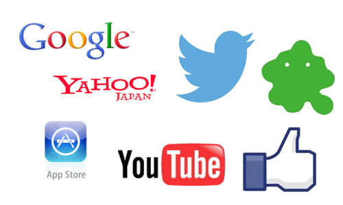 Google Yahoo Twitter YouTube Facebook
